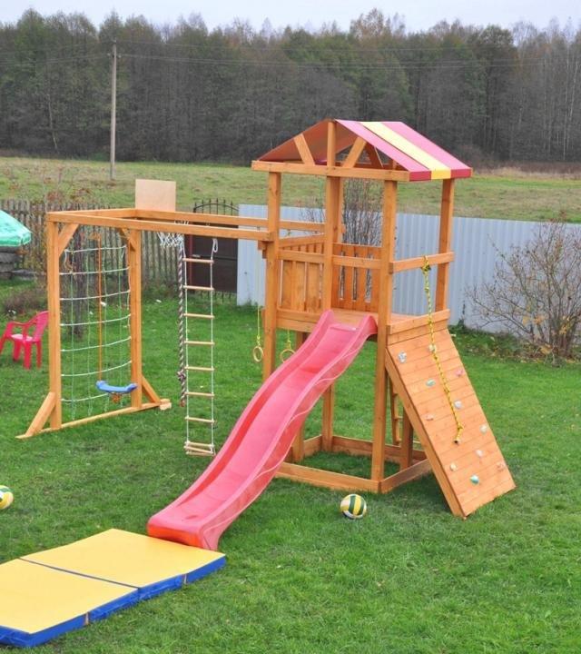 Детские площадки для дачи из дерева