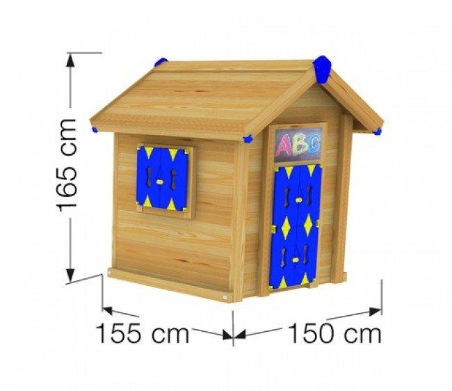 Деревянный детский домик размеры