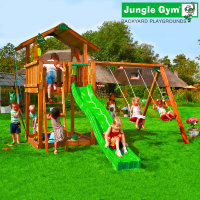 Игровой городок Jungle Chalet+Swing Module Xtra
