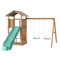 Игровой городок Jungle Cottage + Swing Module Xtra + Rock Module Jungle Gym