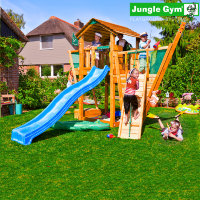 Игровая площадка Jungle Cottage + Boat Module Jungle Gum