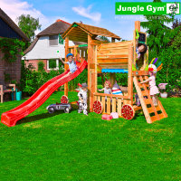 Игровая площадка Jungle Cottage + Train Module Jungle Gum