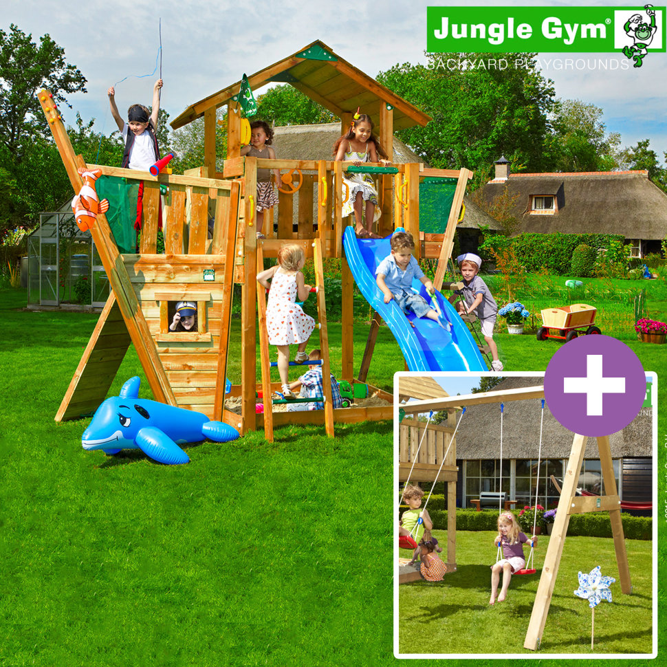 jungle chalet swing module xtra boat module. Black Bedroom Furniture Sets. Home Design Ideas